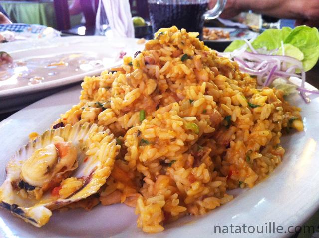 Tacu tacu relleno de mariscos_El Paisa