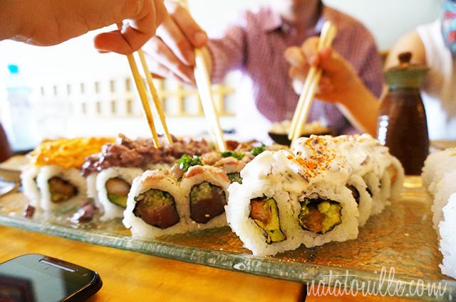 Comiendo en Ibuki