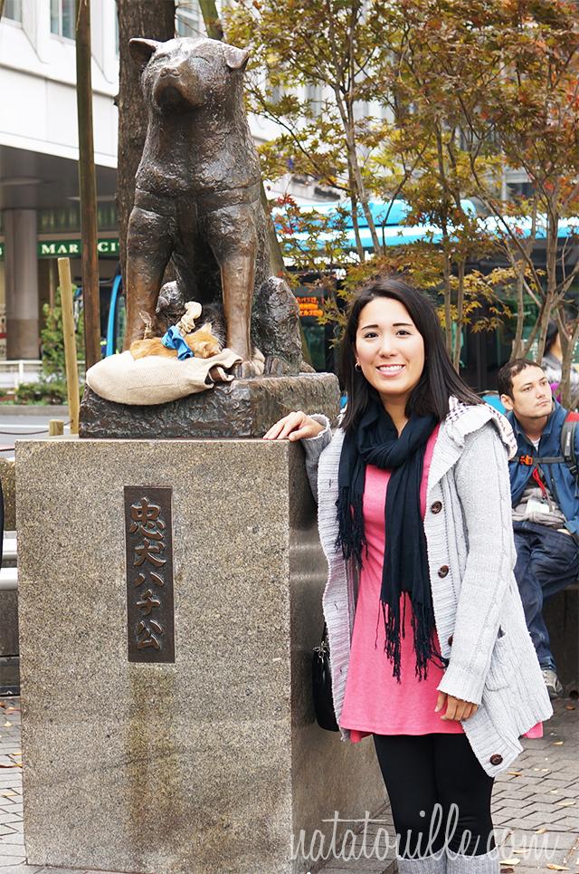 Nat con Hachiko