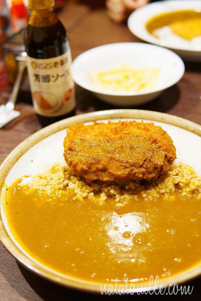 Kare Rice con Menchi relleno de Queso